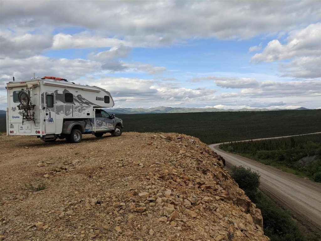 driving the dempster highway with a truck camper