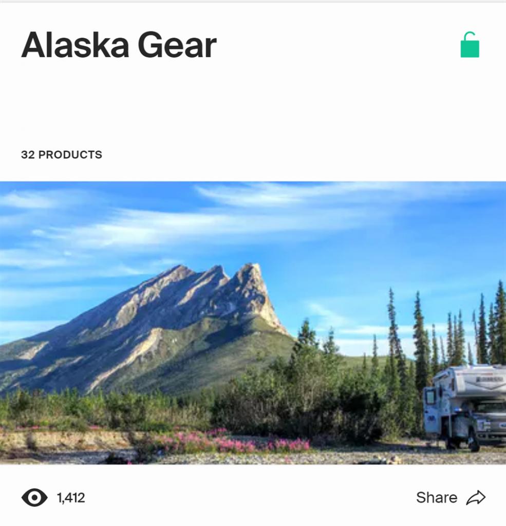 Alaska rv trip gear