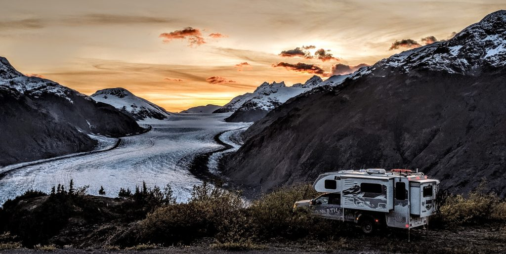 Cold Camping Near Glacier Lithium Battery