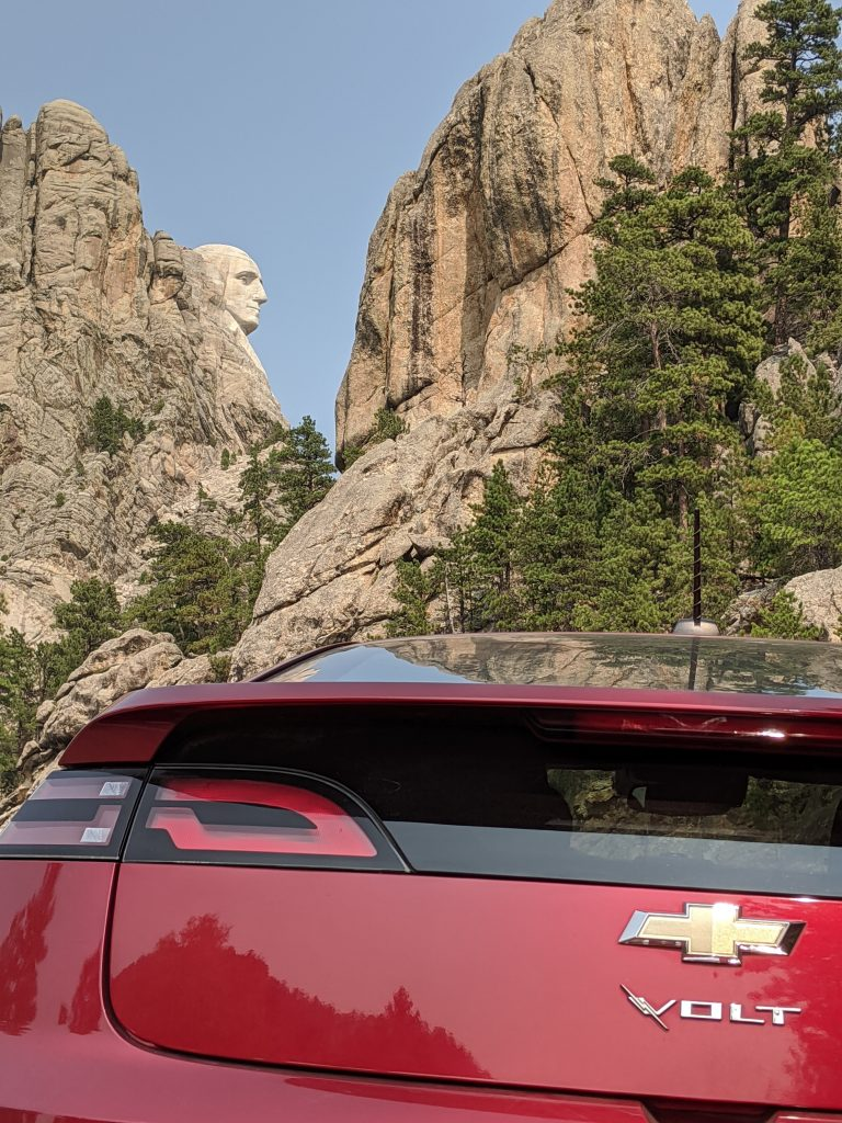 chevy volt at Rushmore