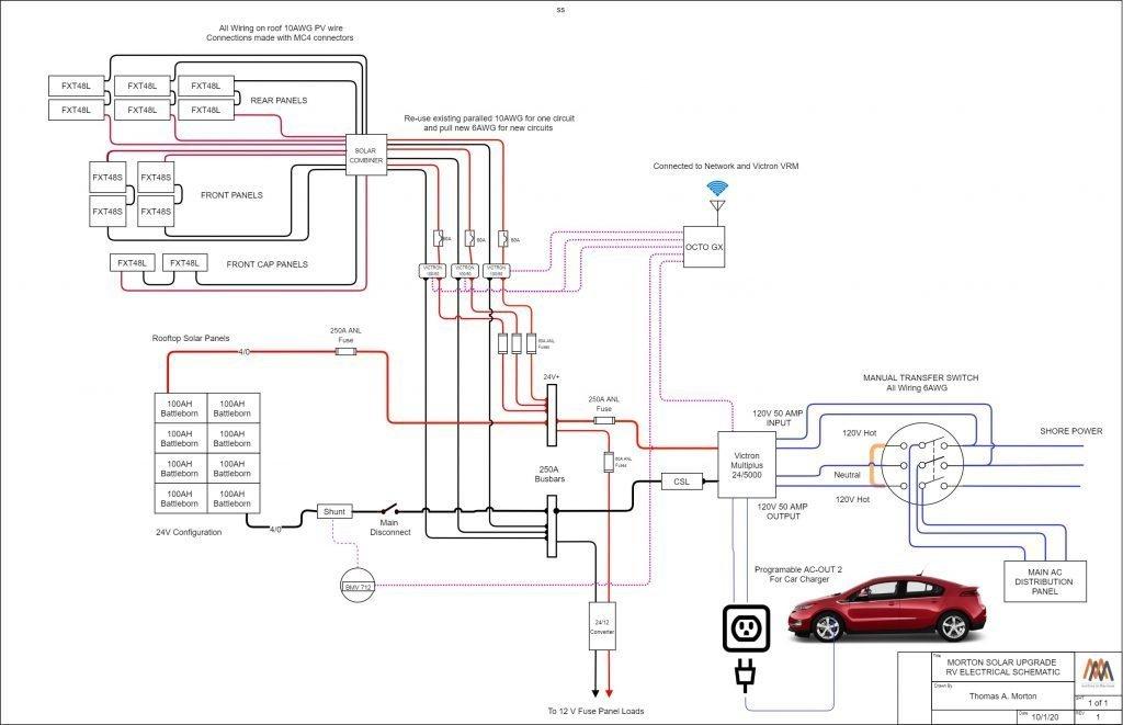 RV solar powered car schematic
