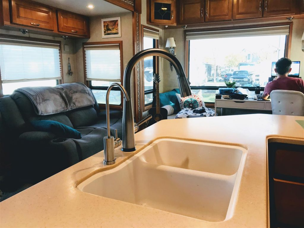 rv kitchen sink faucet upgrade
