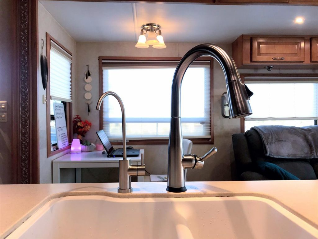 Delta touch2O faucet installed rv kitchen sink