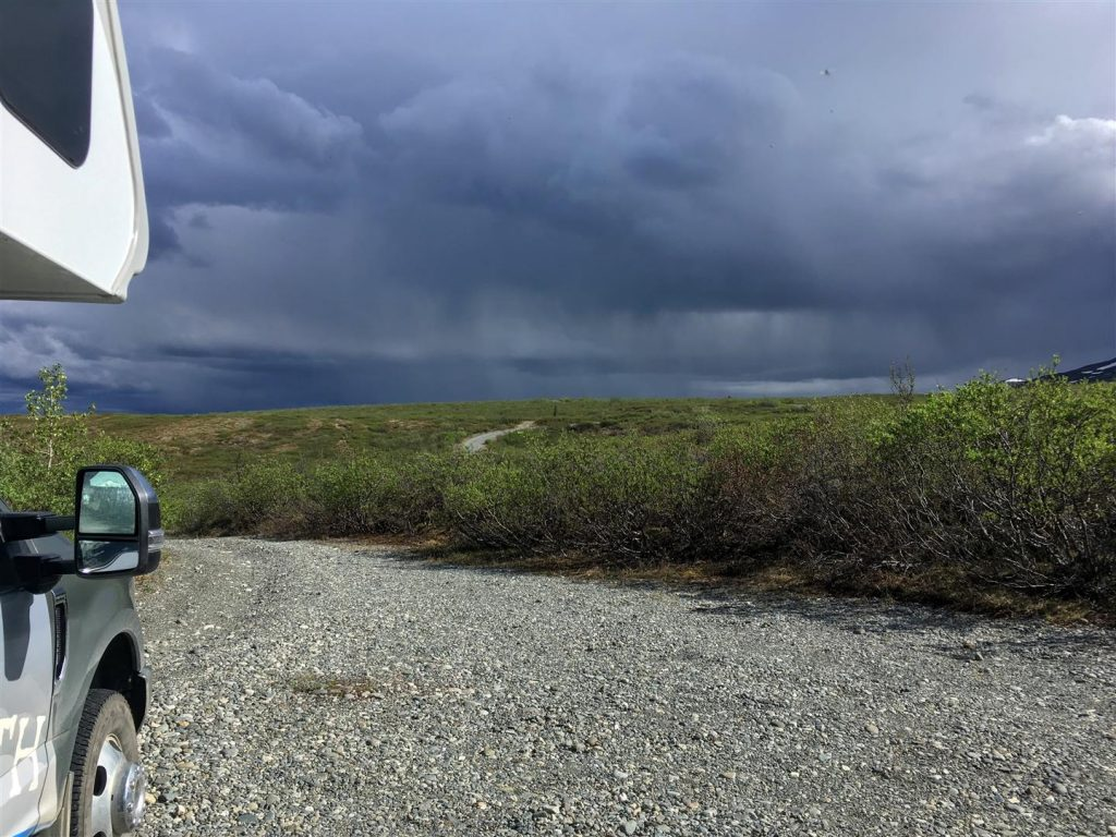 Watch a storm pass from our truck camper rv