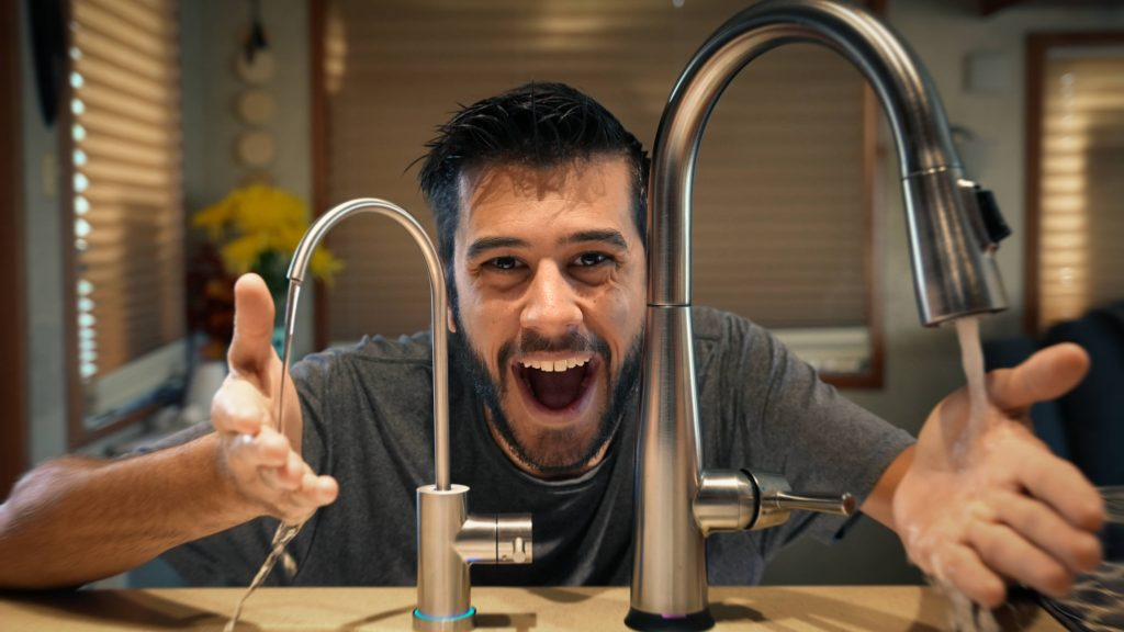 Excited RV Faucet
