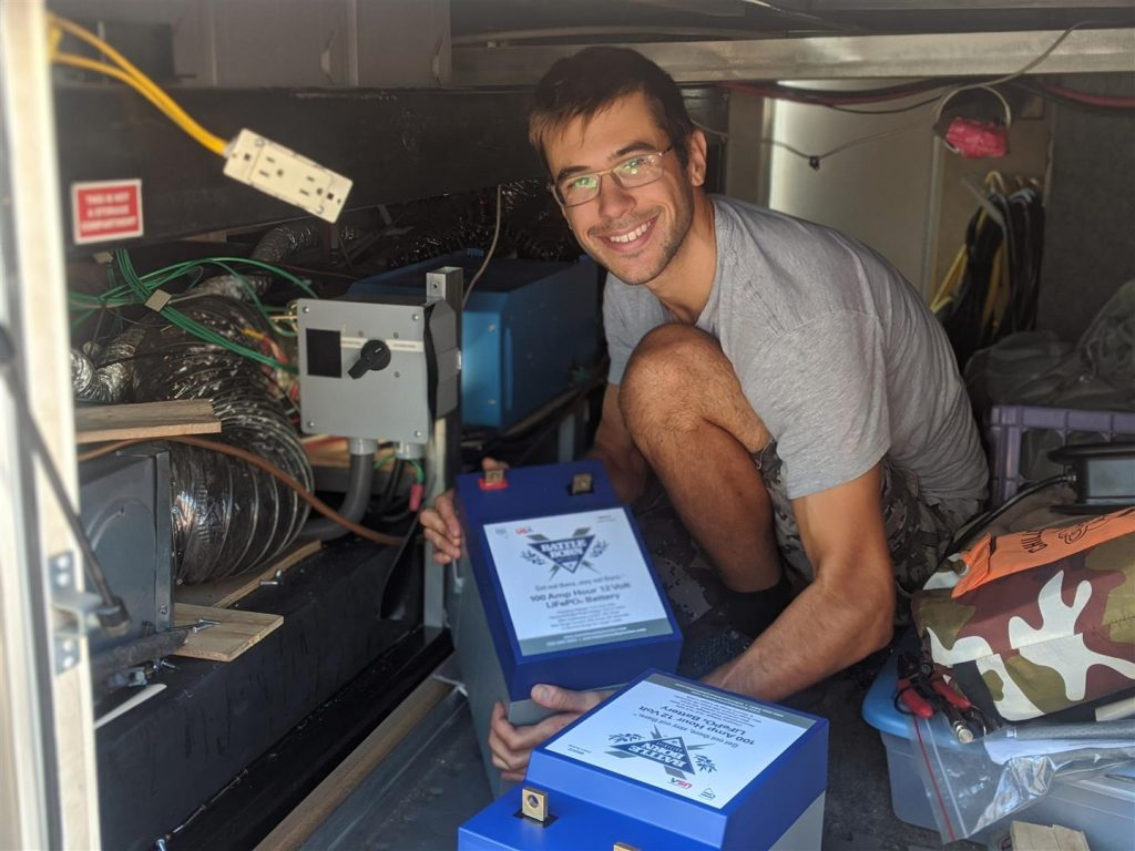 installing lithium ion batteries for full-time rving