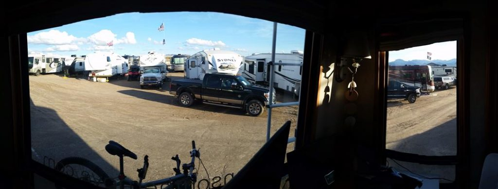 parked at the xscapers rv club rally