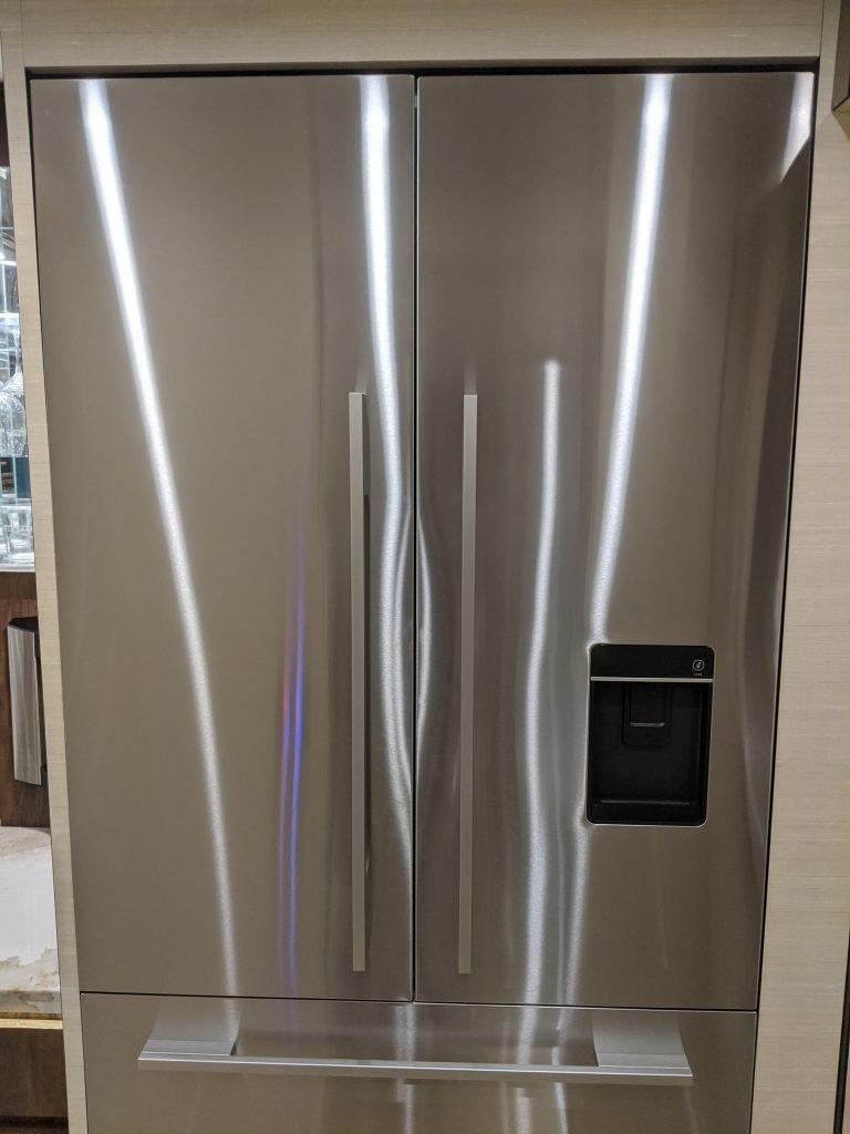 Residential fridge in rv