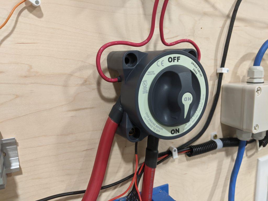 Battery Testing cutoff switch