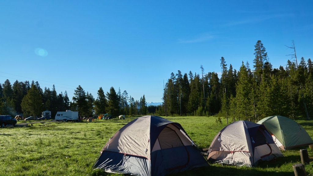 campground in Yellowstone