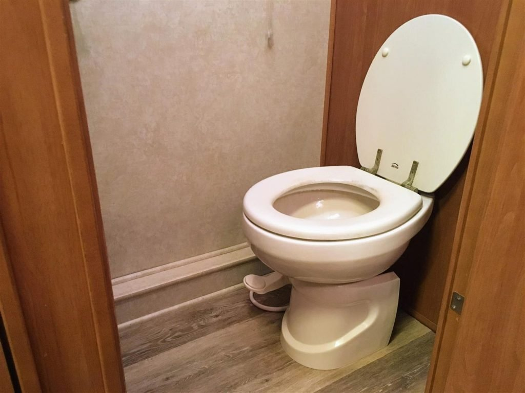 Standard gravity-fed RV toilet