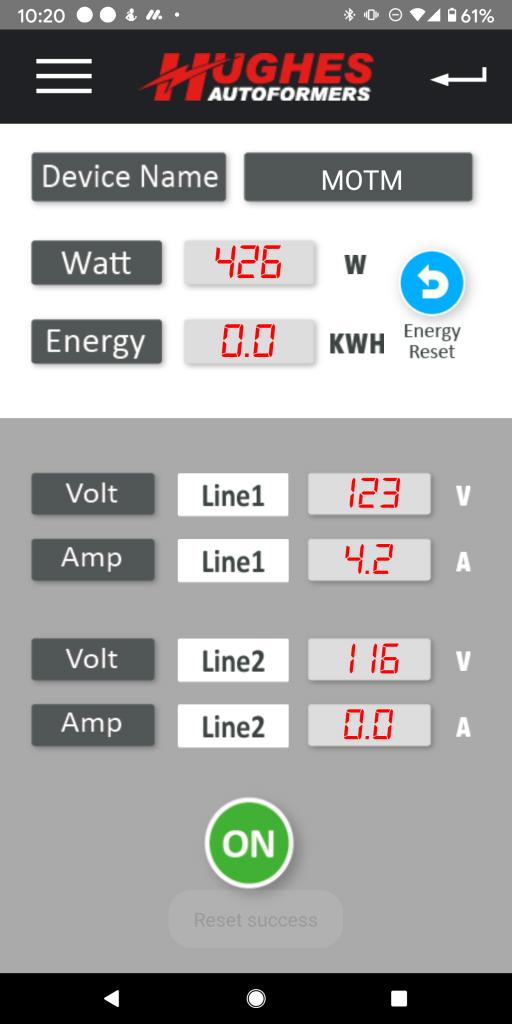 Power Watcdog Bluetooth Screen