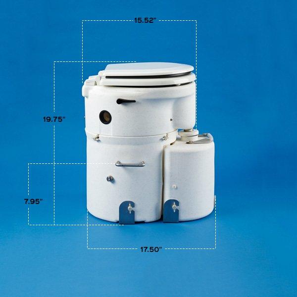 air head toilet marine seat dimensions