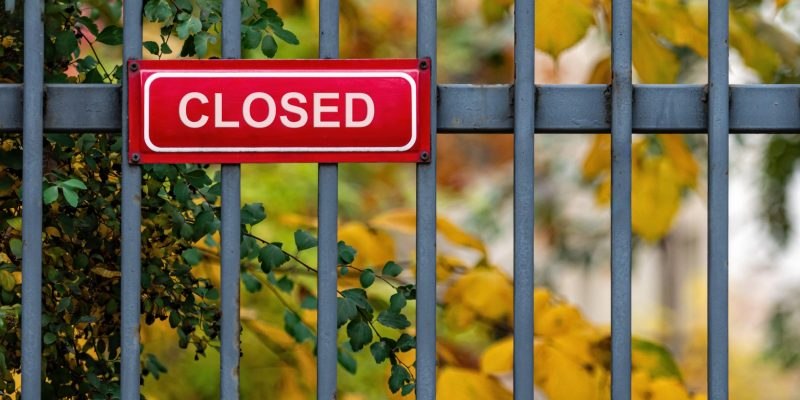 boondocking site closed