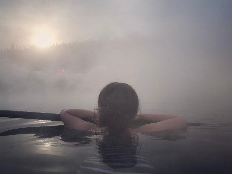 Alaska Hot springs steam