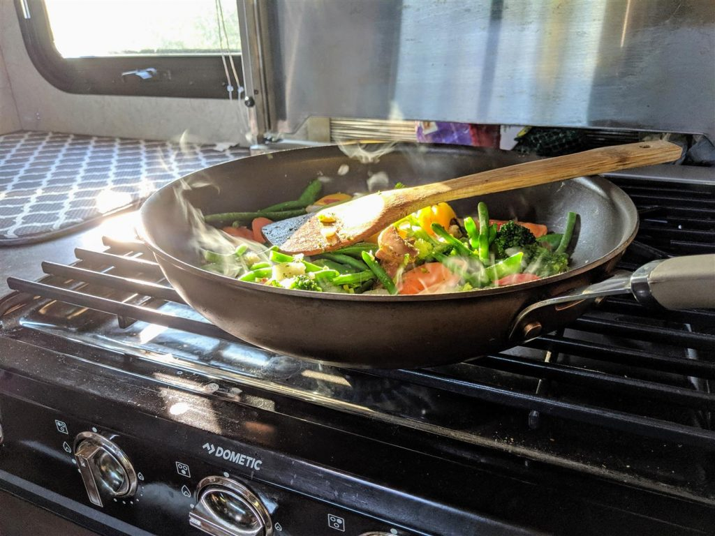 cooking in your rv can help save money
