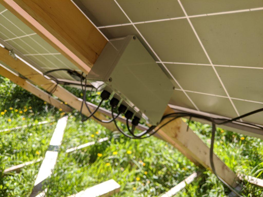 DIY solar panel junction box
