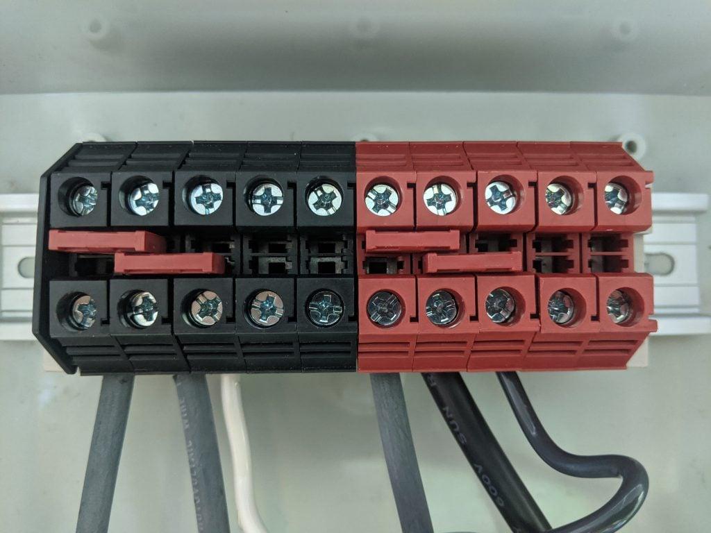 DIN Rail Solar panel junction
