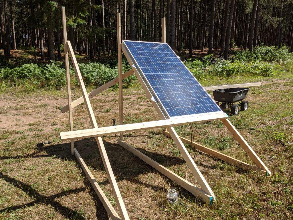 ground based solar array build