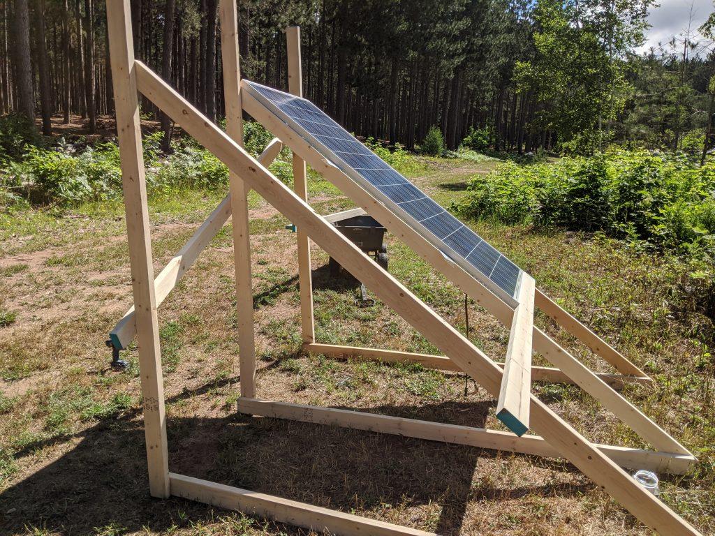 building wooden ground solar array