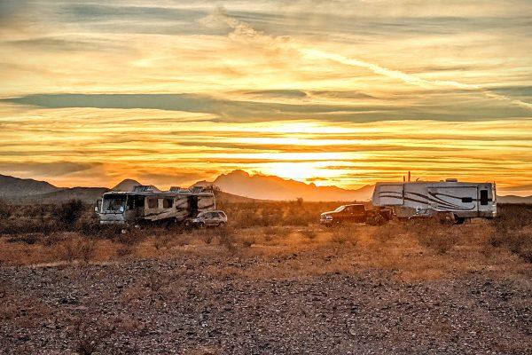 rv boondocking in desert southwest