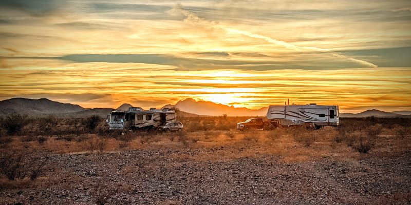 rv boondocking in desert southwest