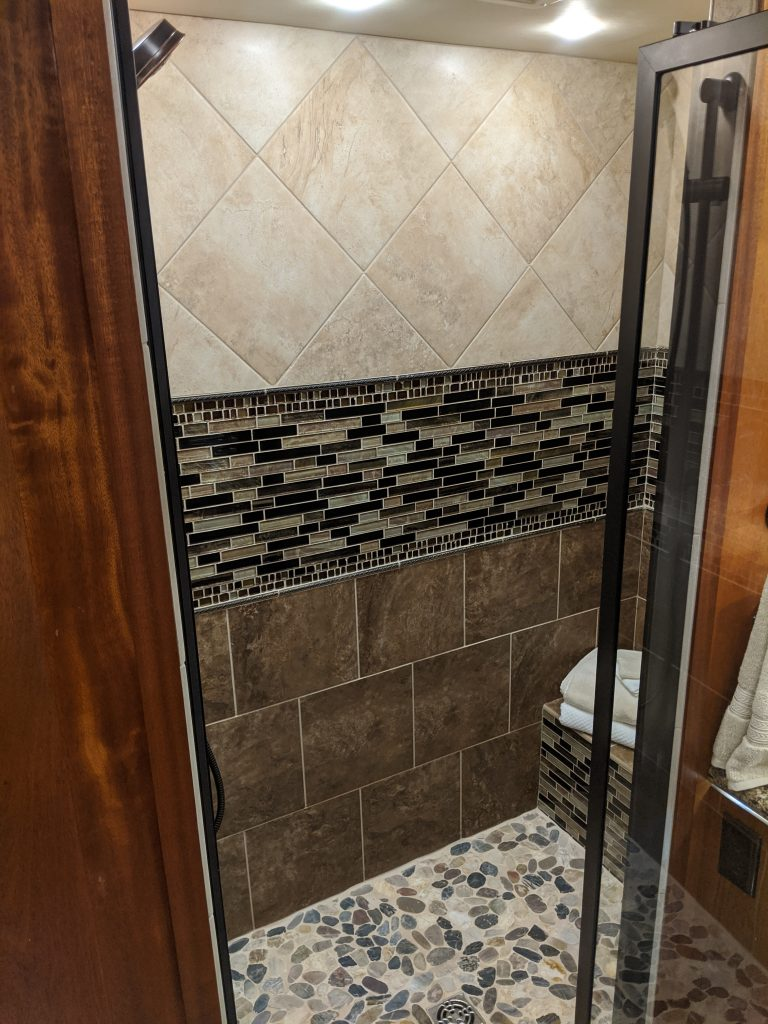 Luxury RV shower