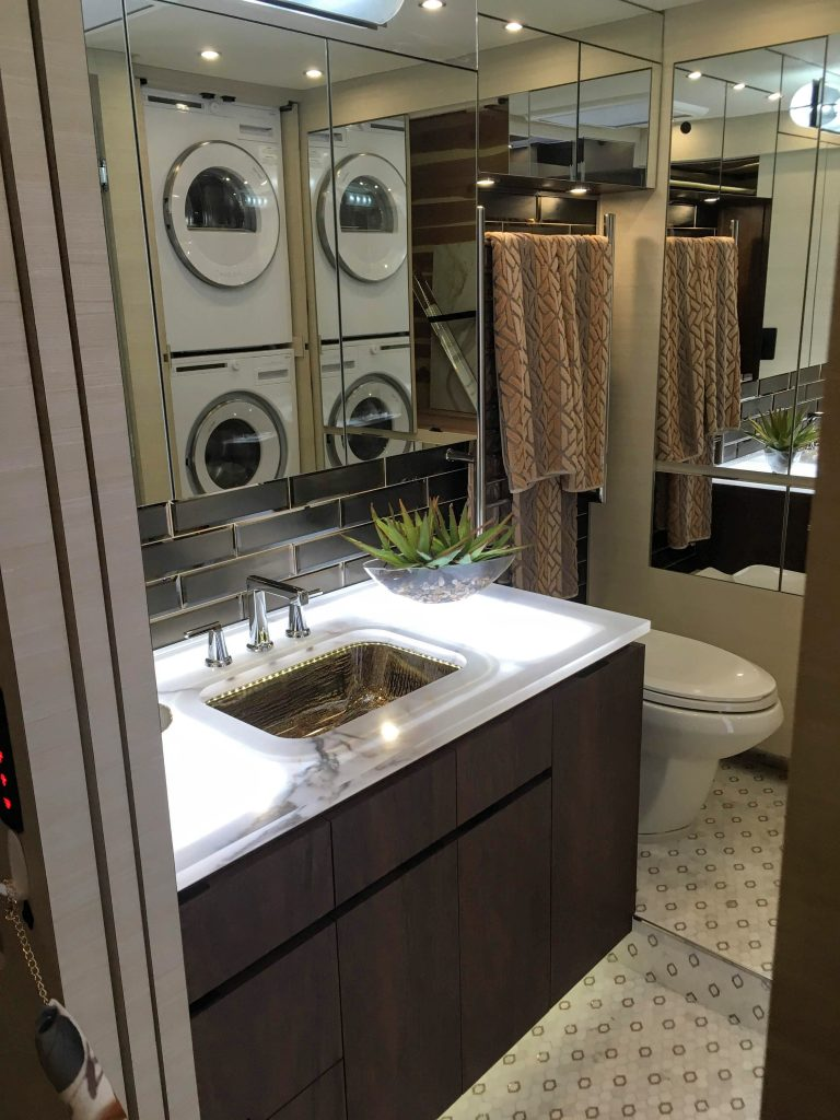 laundry washer and dryer installed in RV