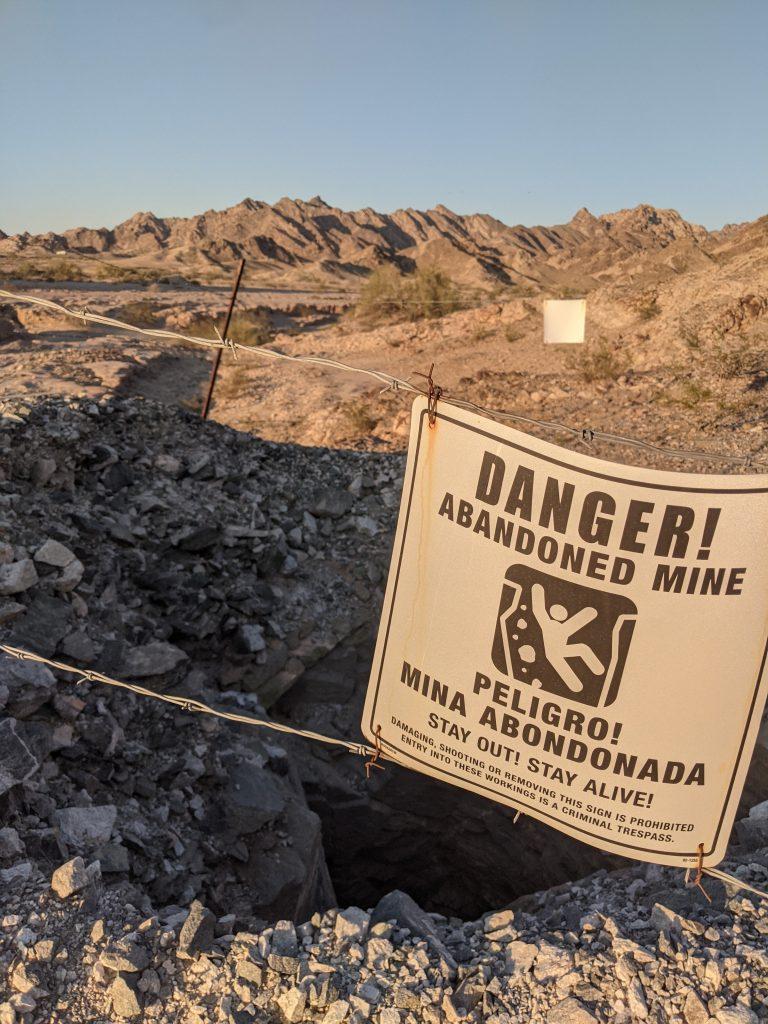 Dangerous mine on BLM land