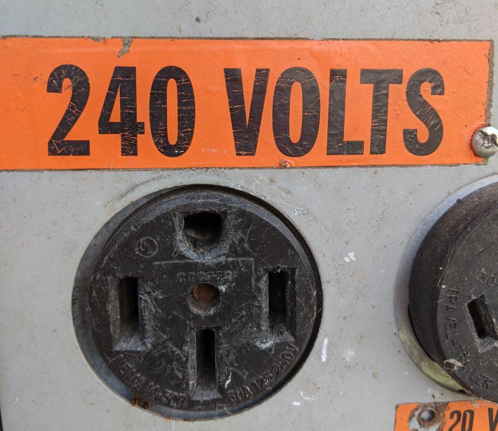 RV 50 amp 240 volt