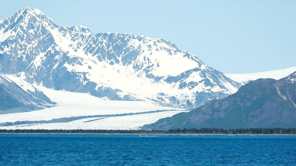 bear glacier in kenai fjords national park near seward