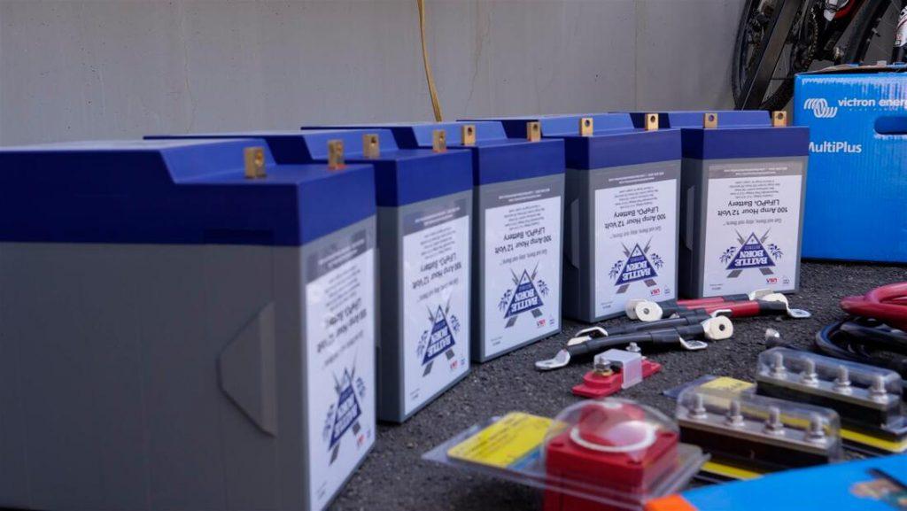 lithium rv battery installation supplies