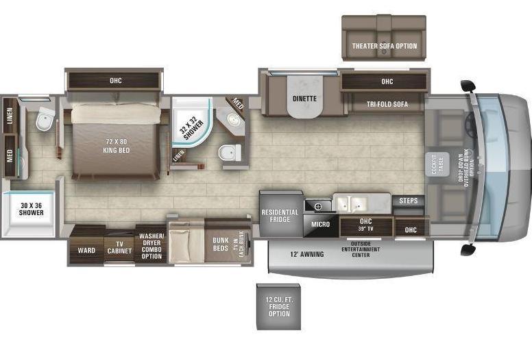 Entegra Vision XL 36A Floorplan