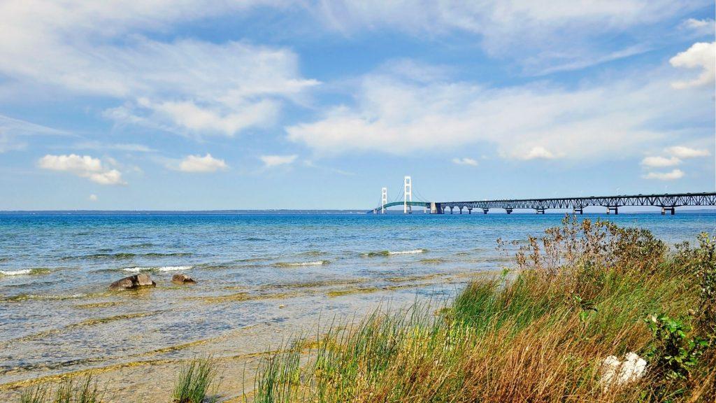 Mackinac Bridge to the Upper Peninsula