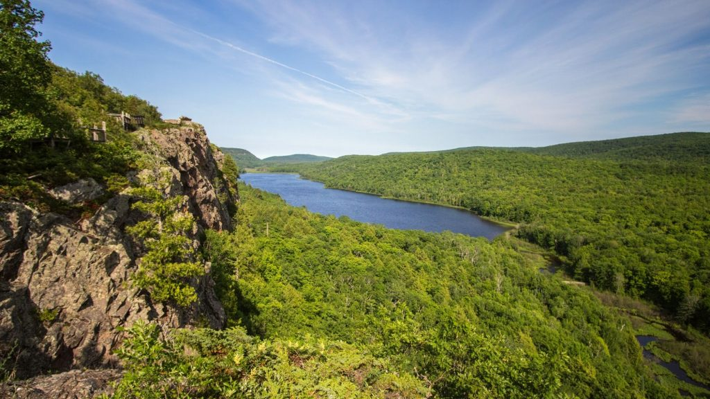 camping in porcupine mountains wilderness state park in upper peninsula