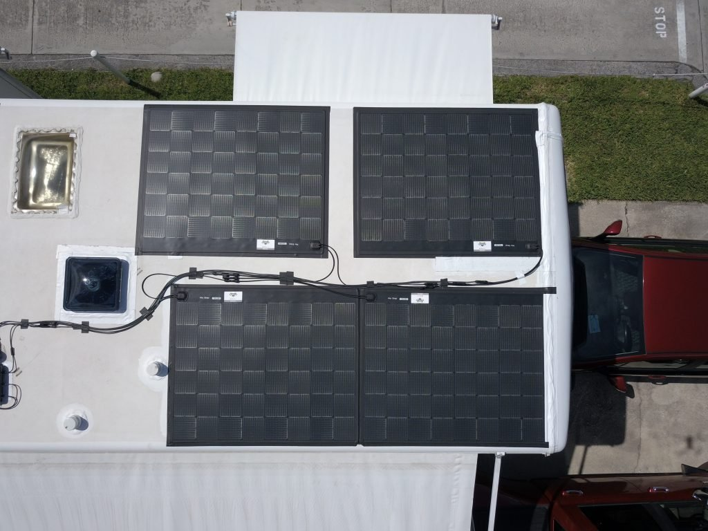solar panels on rv roof