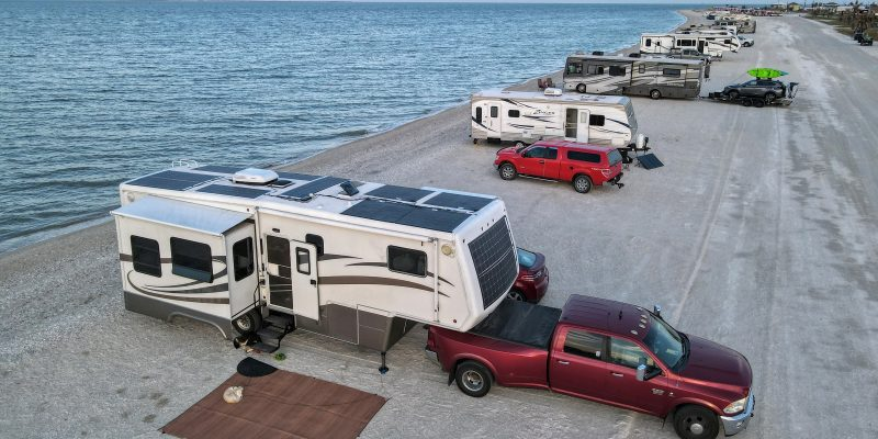 Beach Camping in Texas