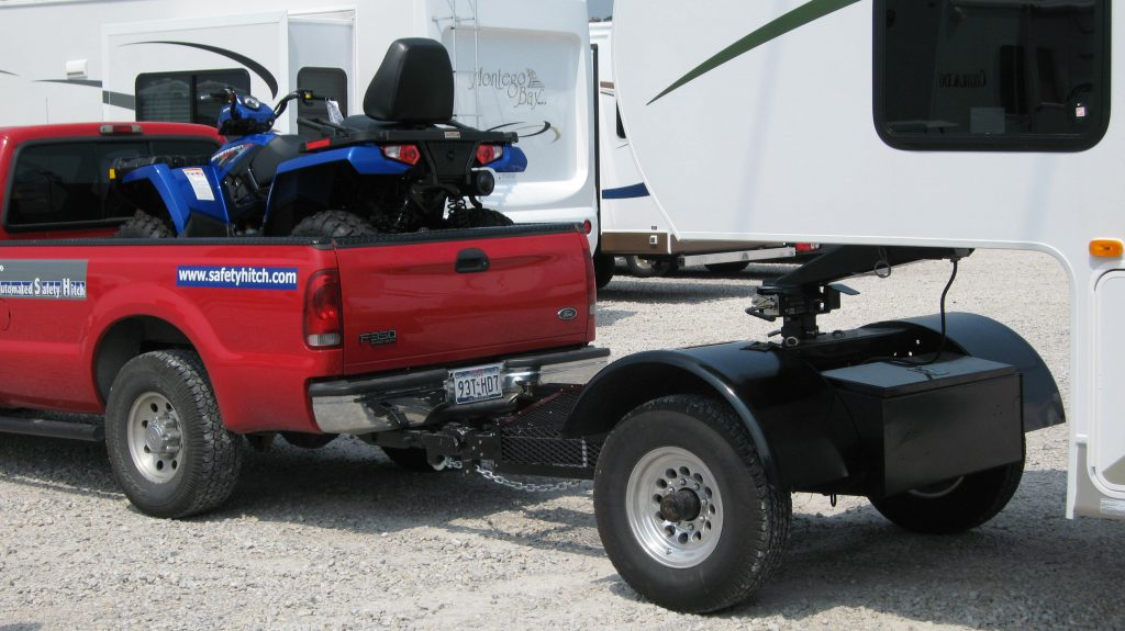 Automated Safety Hitch Towing fifth wheel