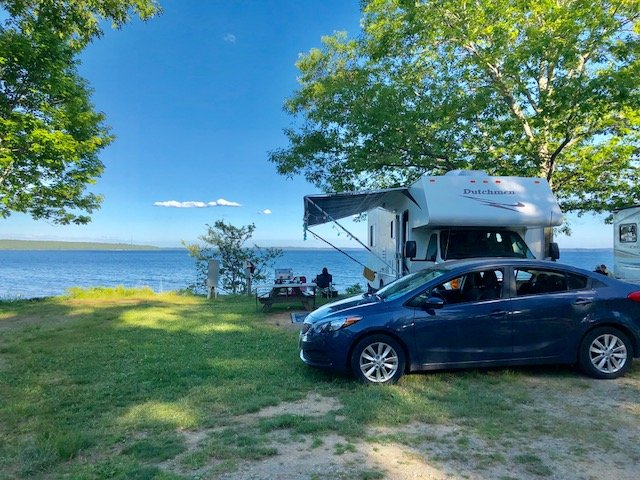 oceanfront camping in maine