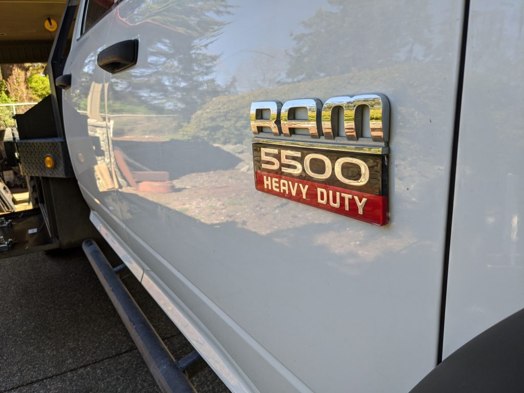 ram 5500 badge camper