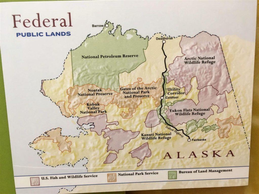 sign of federal public lands in alaska including arctic national wildlife refuge
