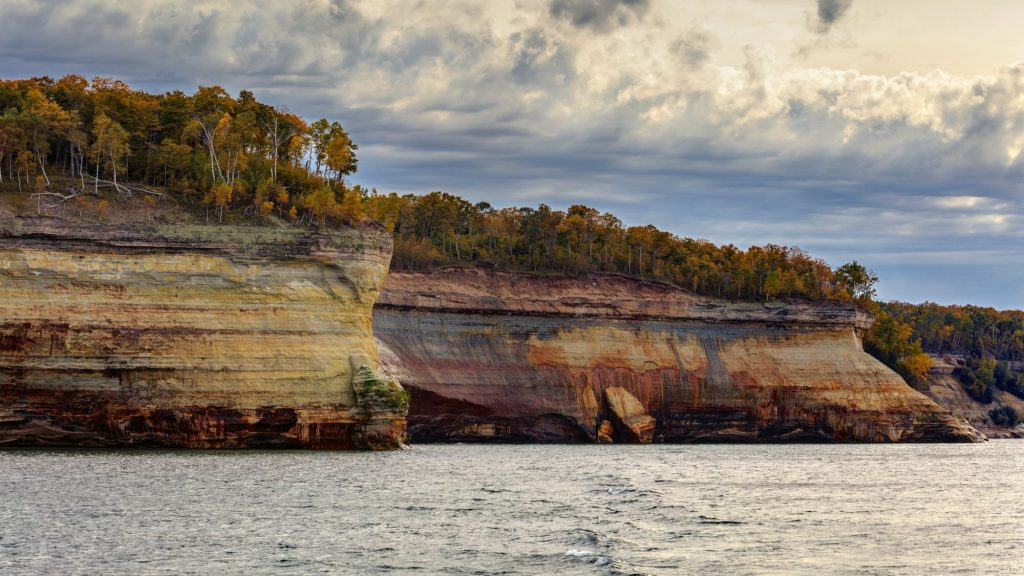 Pictured Rocks National lakeshore park in michigan