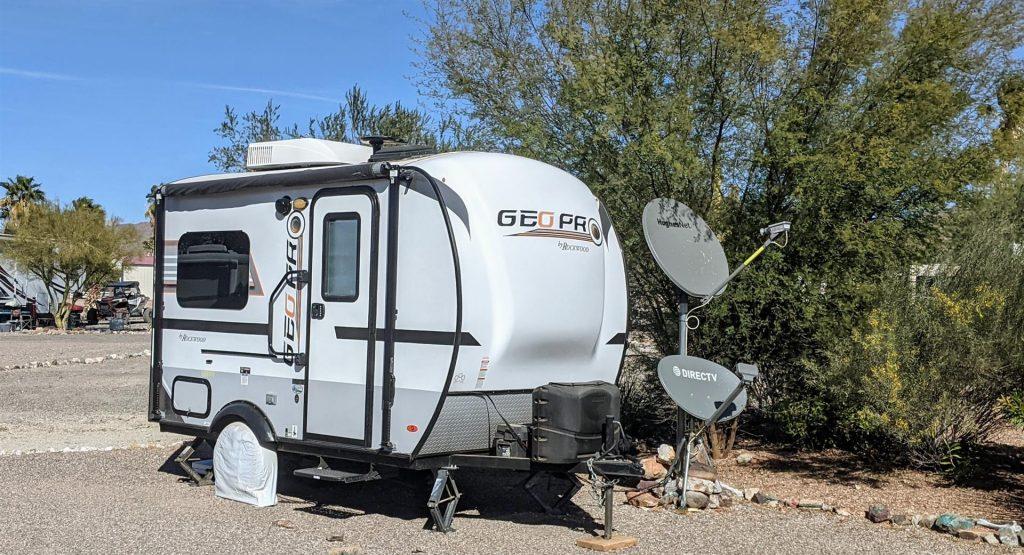 RV with satellite internet
