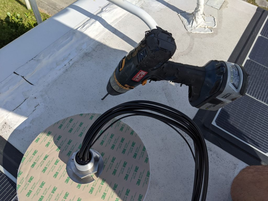 Drilling a Pilot hole in an RV roof