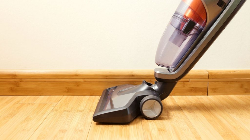 vacuuming rv floor