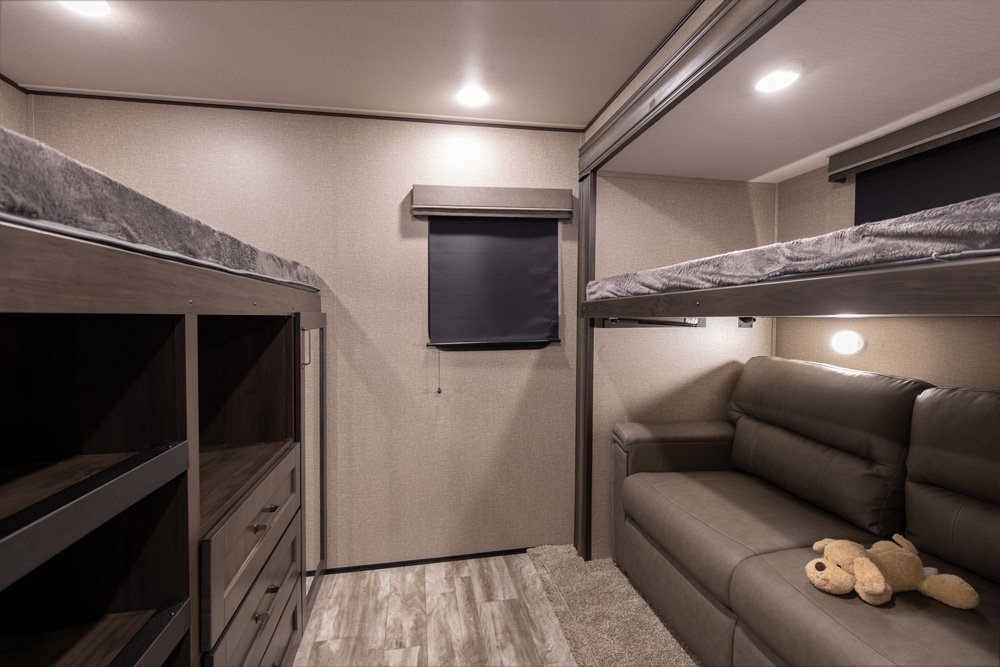 Bunk room in the Grand Design Reflection 312BHTS