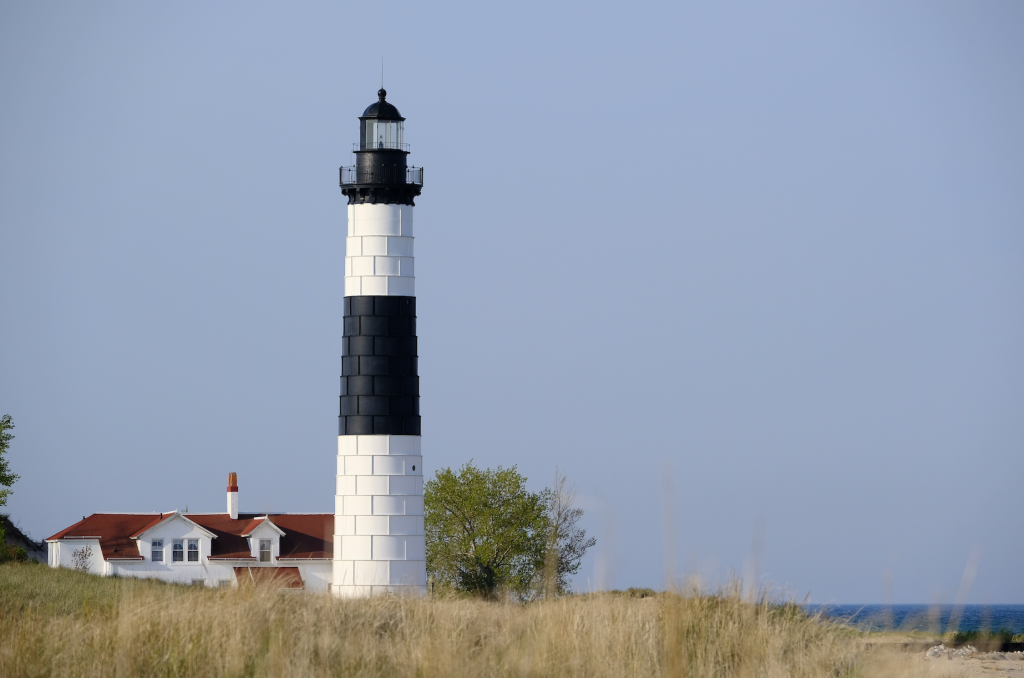 big sable point lighthouse in ludington state park in Michigan