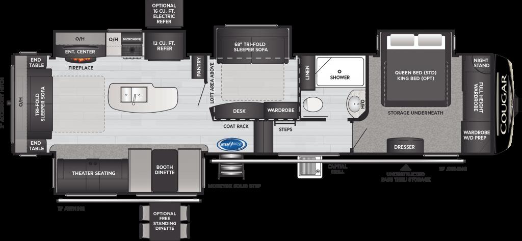 Keystone Cougar 368MBI Floorplan