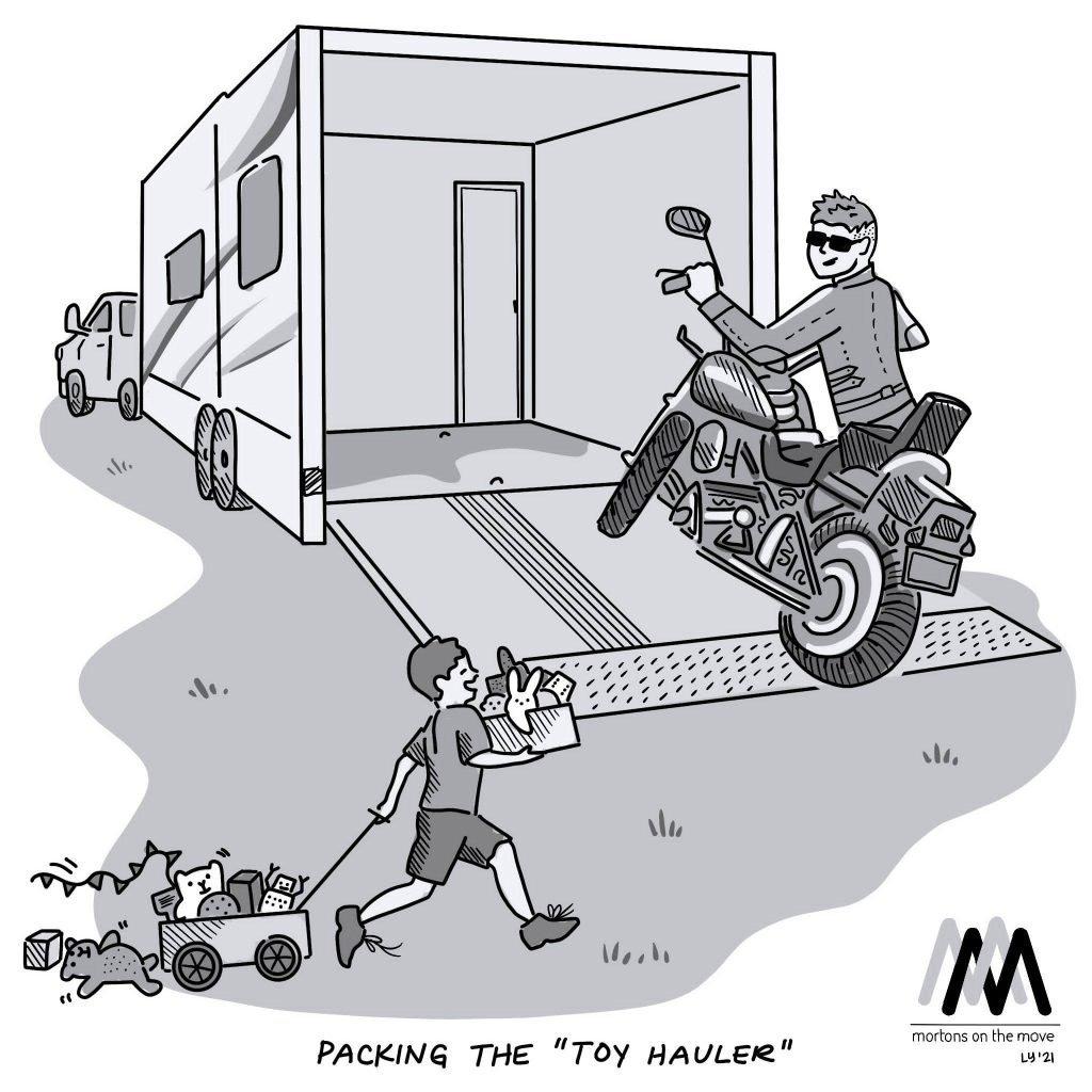 Toyhauler RV Cartoon