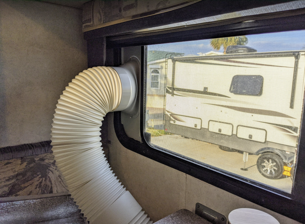 vented air conditioner out RV